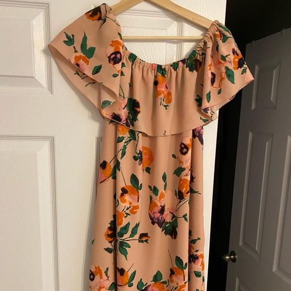 Aritzia Off the should floral dress